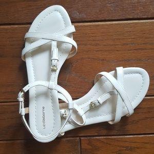 Liz Claiborne white strappy sandals NWOT